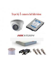Trọn bộ 4 camera hd hikvision