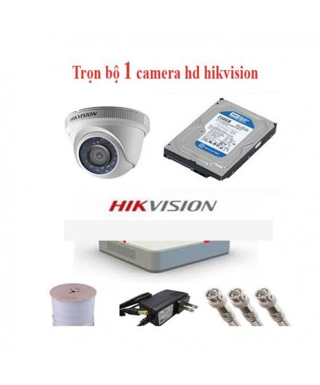 Trọn bộ 3 camera hd hikvision giá rẻ