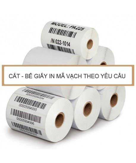 Cắt - bế giấy in mã vạch theo yêu cầu